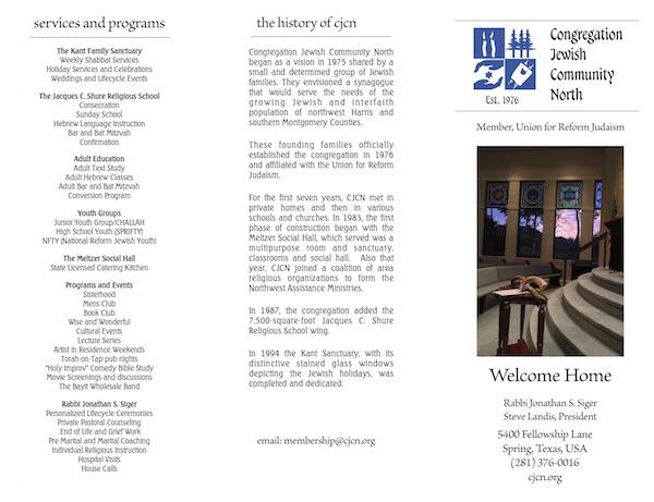 Membership - Congregation Jewish Community North