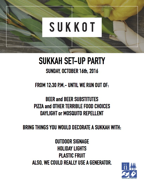 Sukkot - Congregation Jewish Community North